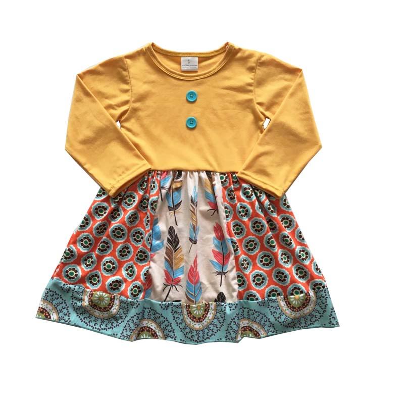Новинка 2018 года, рождественское платье для маленьких девочек, хлопковое платье высокого качества с длинными рукавами