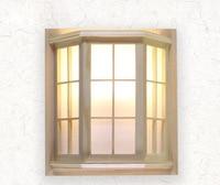 Japanischen Stil Kiefer Kampfer Holz PVC Handwerk Holz Fenster Rahmen LED AC 110/220V Gang Wand Leuchte luminarias para-in LED-Innenwandleuchten aus Licht & Beleuchtung bei