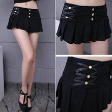 6d07d326f5f Pleated Skirt Shorts Women 2018 New Summer Style All-match Black White  Stretch Hotpant Miniskirt Micro Short WF94