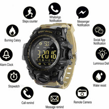 Купить с кэшбэком Bluetooth Clock Smart Watch Notification Remote Control Pedometer Sport Watch IP67 Waterproof Wristwatch