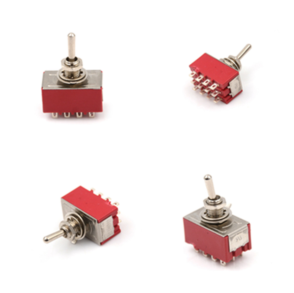 NEW 6A/125VAC 2A/250VAC 12 Pin 4PDT ON/ON 2 Position Mini MTS-402 Toggle Switch image