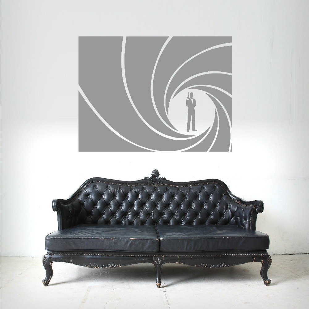 Stickers for bedroom picture more detailed picture about quality quality james bond 007 golden gun vinyl wall art sticker decal home decoration wall paper art amipublicfo Gallery