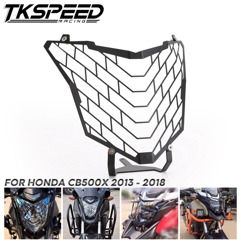 Motorcycle Black Aluminum Headlight Head Lamp Light Grille Guard Cover Protector For Honda <font><b>CB500X</b></font> 2013 2014 2015 2016 2017 <font><b>2018</b></font> image