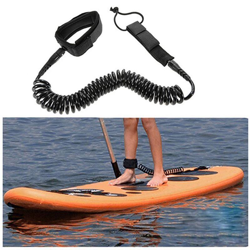 Lanceasy 10 pies de Tabla de Surf Tobillo Cuerda del Correo en Espiral Stand Up Paddle Surf Junta Cable Cadena
