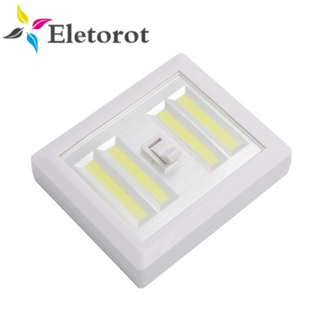 Superbe Magnetic 4* COB LED Cordless Light Switch Wall Night Lights Battery  Operated Kitchen Cabinet Garage