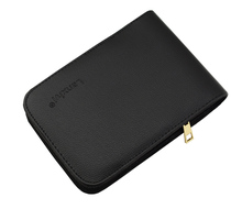 лучшая цена Quality Fountain Pen / Rollerball Pen Bag Pencil Case Available for 12 Pens - Black Leather Pen Holder / Pouch