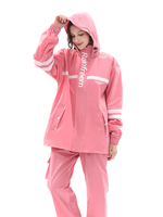 Lightweight Hiking Travel Fashion Raincoat Motorcycle Waterproof Women Poncho Set Outdoor Pants Impermeable Transparent Pink R6