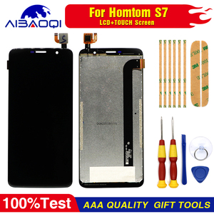 Image 4 - New Touch Screen LCD display LCD screen for HOMTOM S7 screen with Frame replacement parts + removal tool + 3M adhesive