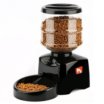 5.5L LCD Screen Electric Automatic Pet Feeder Sound Recording Timer Programmable Large Smart Pet Dogs Cats Bowl Food Dispenser