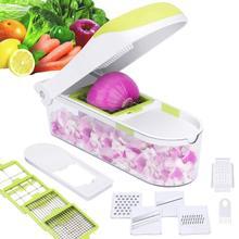 12 в 1 многофункциональная быстрая машина для нарезания Нержавеющаясталь нож для нарезки овощей резак картофельных измельчитель для лука с контейнером KC1036