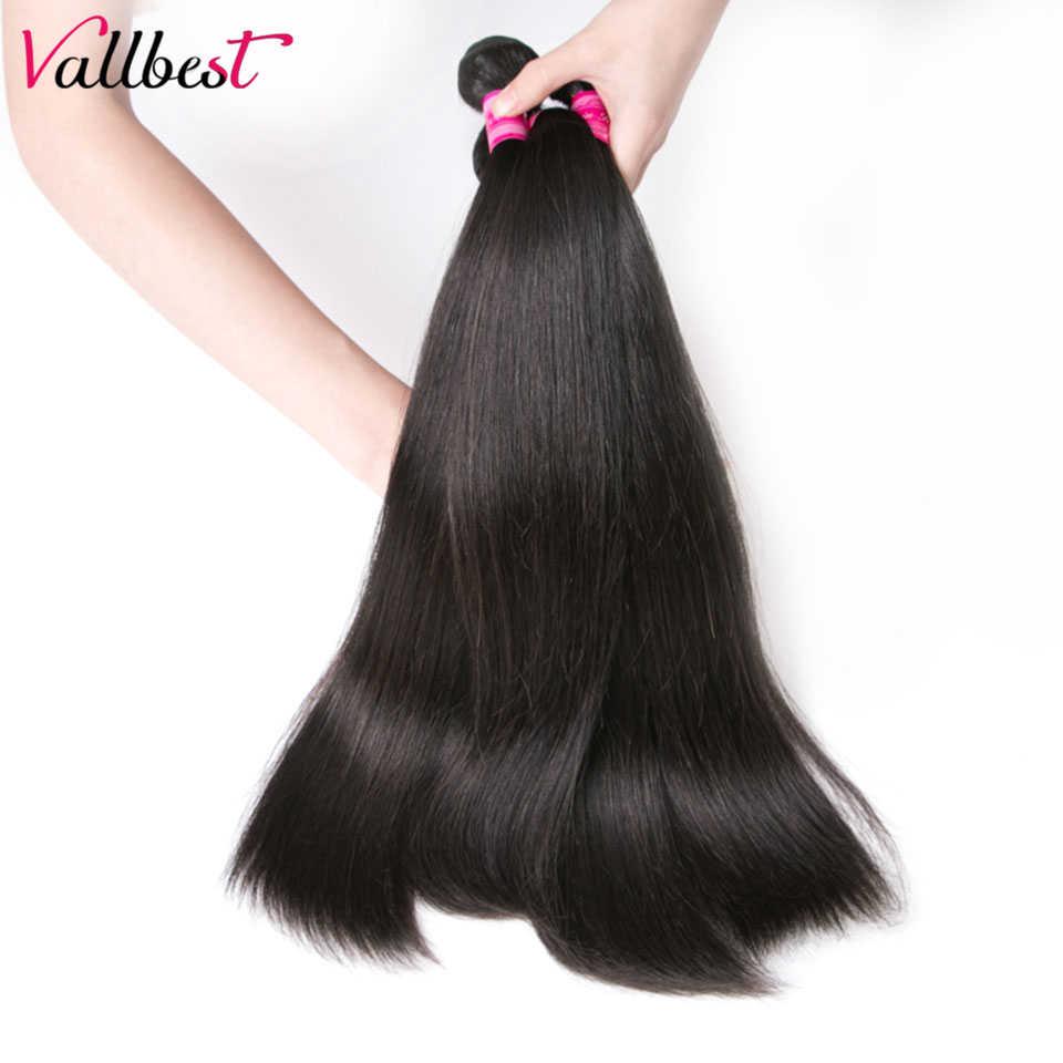Vallbest прямые пучки волос 1/3 пучки предложения Remy человеческие волосы бразильское наращивание волос плетение пучки 8-28 дюймов натуральный черный