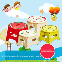 Quality Thickening Mini Stool Children Cartoon Folding Stool Non Slip Fruit Creative Plastic Bench Stool Stool