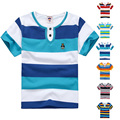 High Quality Kids Striped Shirts Summer Children Baby Boys Girls T Shirt Cotton Short Sleeve Brand T Shirts