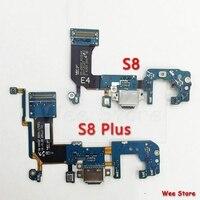 Cep telefonları ve Telekomünikasyon Ürünleri'ten Cep Telefonu Flex Kabloları'de Samsung Galaxy S8 G950u G950f G950n S8 Artı G955u G955f G955n Orijinal USB şarj portu Şarj dock konektör esnek kablo