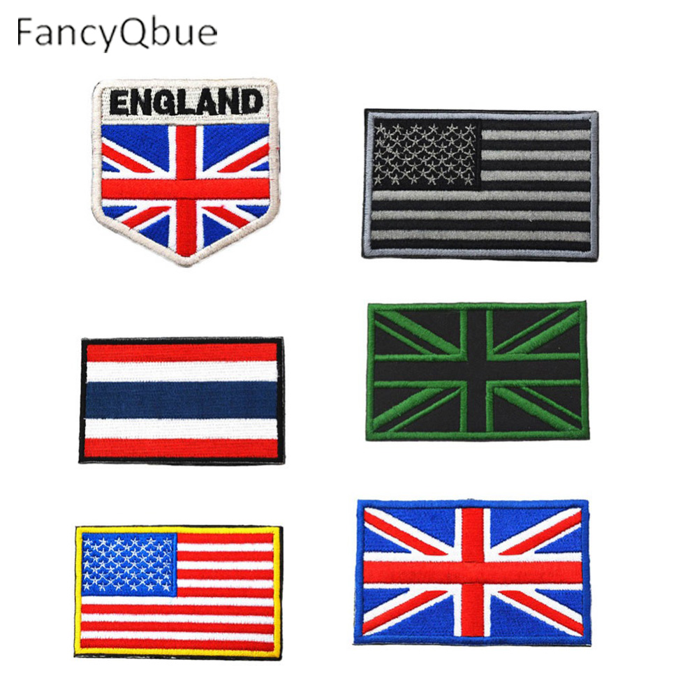 10pcs lot national flag country flag stick flags flag of the united - Fashion Different Country Flags Wholesale United States Flag Embroidered Armband Drop Shipping China Mainland