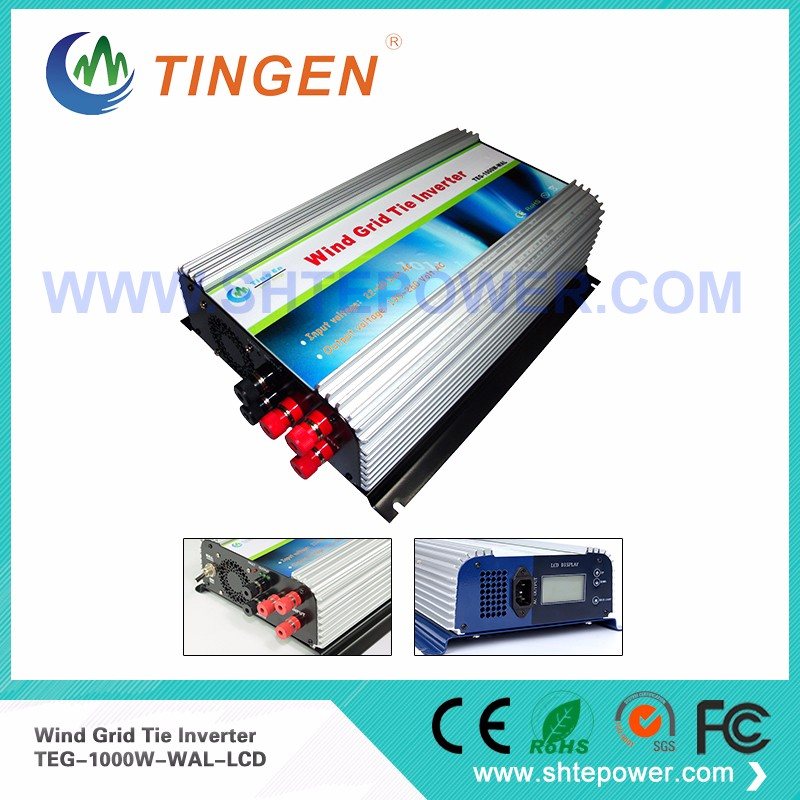 1000W on Grid Tie Wind Power Inverter AC/DC 22V~60V to AC 90V~130V,Dump Load Controller,for 3 Phase Wind turbine 2000w wind power grid tie inverter with limiter dump load controller resistor for 3 phase 48v wind turbine generator to ac 220v