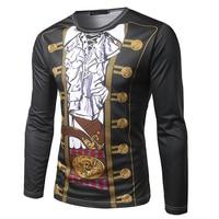 HOT 2017 Spring Autumn Long Sleeve T Shirt Male Uniform Earl 3D Printing Clothing Sets Round