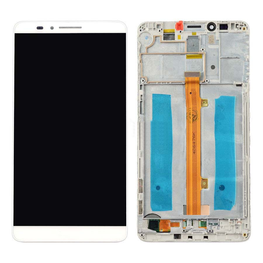 +Frame white LCD Display + Touch Screen Digitizer Assembly Replacement For Huawei Ascend Mate 7 Free Shipping