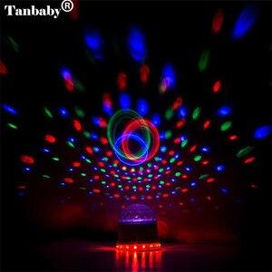 Image 5 - Mini Xoay Magic Disco Bóng 48 Led RGB Đèn Sân Khấu Âm Thanh Actived Tự Động RGB Nhấp Nháy Mệnh Đảng Đèn Cho DJ thể Hiện Диско Шар