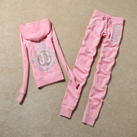 Fashion Casual Velvet Fabric Women Tracksuits Velour Suit Hoodies Tops and Sweat Pants Set S XL