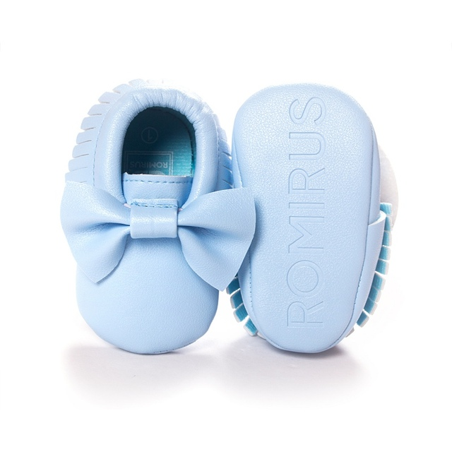 PU Leather Unisex Toddlers Baby Shoes Soft Soled Tassel Crib Shoes  Prewalker Bow Shoe First Walkers 7ab7da6374c8