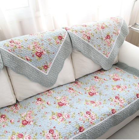 Edinburgh Rose sofa cushion 100% cotton embroidery fabric