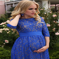 Lace Maternity dresses for photo shoot 2018 Autumn Pregnancy Dresses Sexy Maternity Clothes Evening Party pregnant dress Elegant