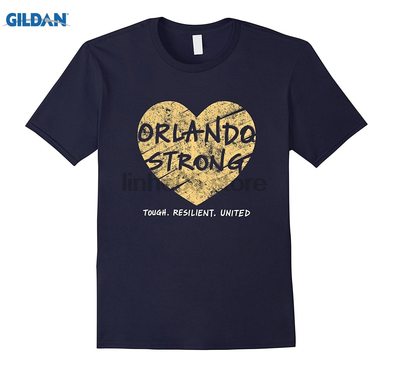 GILDAN Orlando Florida Strong Resilient United Love T Shirt sunglasses women T-shirt