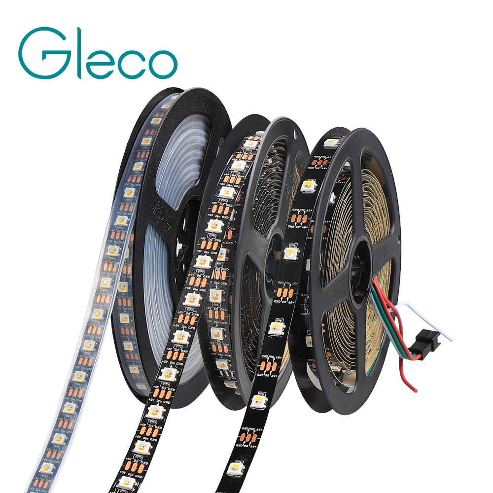SK6812 IC LED Strip 5050 RGB RGBW RGBWW 30/60/144LED Pixels Addressable color <font><b>DC5V</b></font> <font><b>WS2812B</b></font> Pixel LED Strip Light IP30 IP65 IP67 image