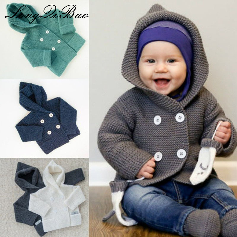 Candid Kids Sweater Autumn Winter Children Hooded Toddler Coat Girl Boy Knitted Clothes Baby Outwear Sweaters Costume Chandail