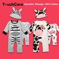 Хранение Clearace Продажа 2 Ползунки + 1Hat Мальчик Девочка комплект Одежды Новорожденный набор детская одежда ребенка Ползунки младенческой roupas де bebe