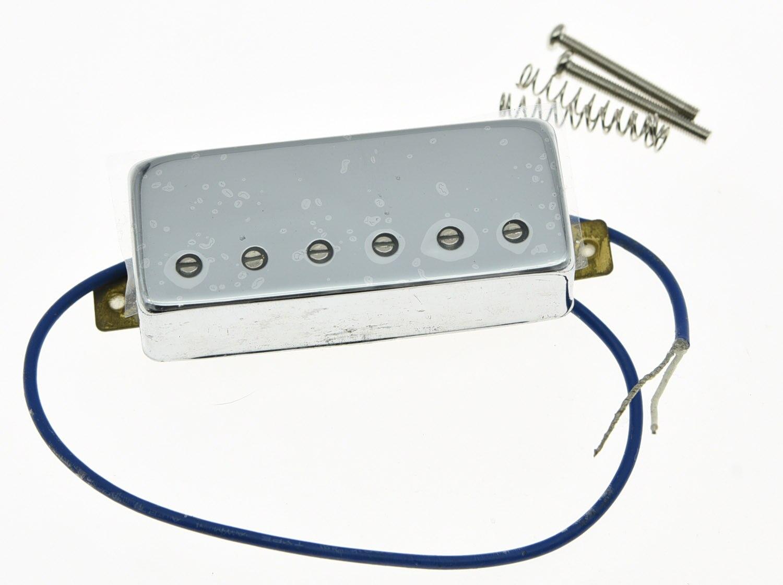 KAISH Chrome LP Guitar Mini Humbucker Bridge Pickup 6.5K Ceramic Pickups for LP oem 1ch mini ahd xbox dvr pcb board 30fps security digital video recorder support 128gb sd card