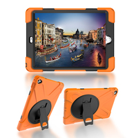 For IPad Air 2 IPad 6 Silicone Case PC Kickstand Cover Armor Shockproof Waterproof Shell Heavy