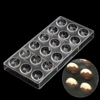 Big Coffee Beans Chocolate Mold DIY Kitchen Accessories Plastic Baking Pastry Tools Polycarbonate Molds For Chocolate