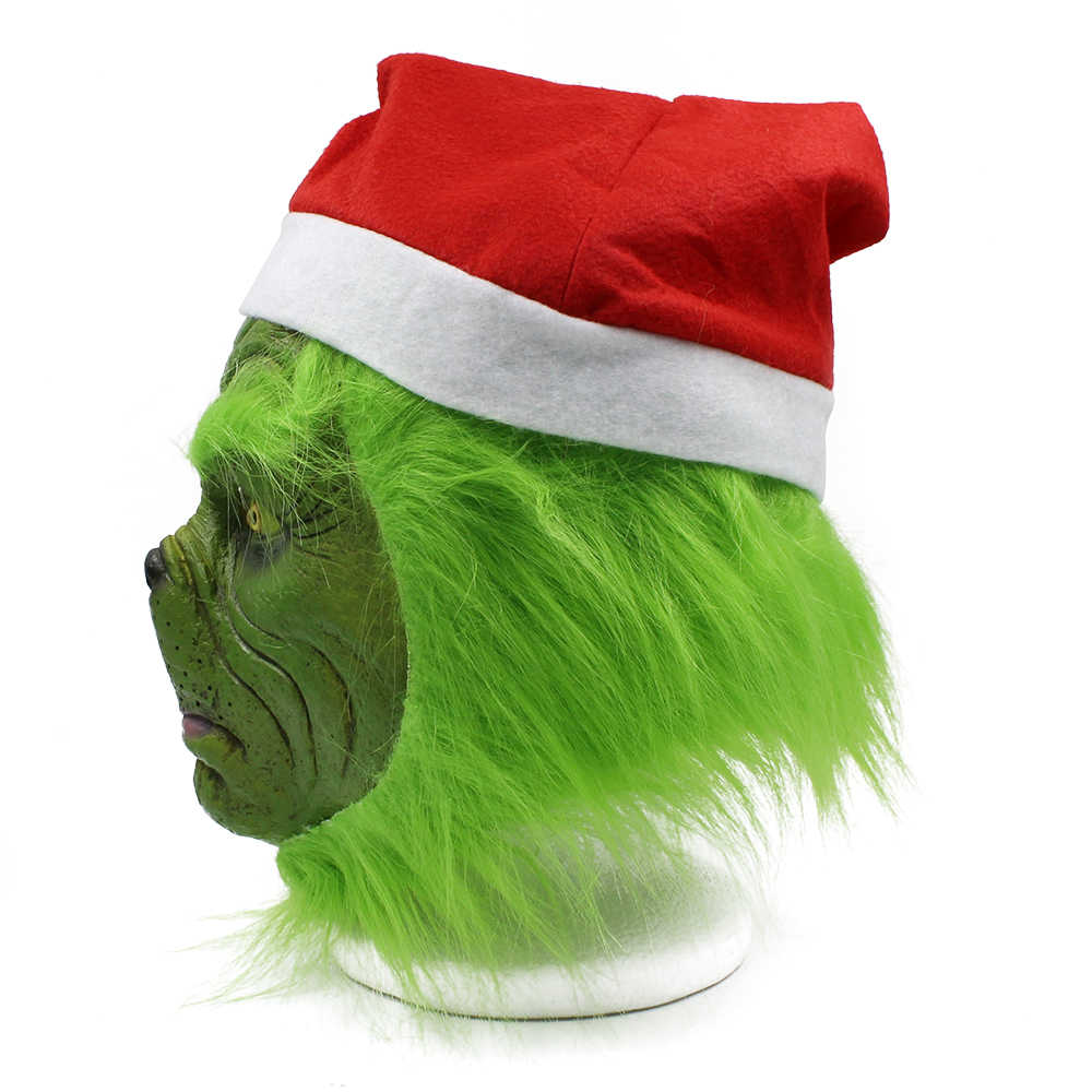 39ec3ba3e805d ... The Grinch How the Grinch Stole Christmas Mask Cap Cosplay Costume  Latex Masks Prop ...