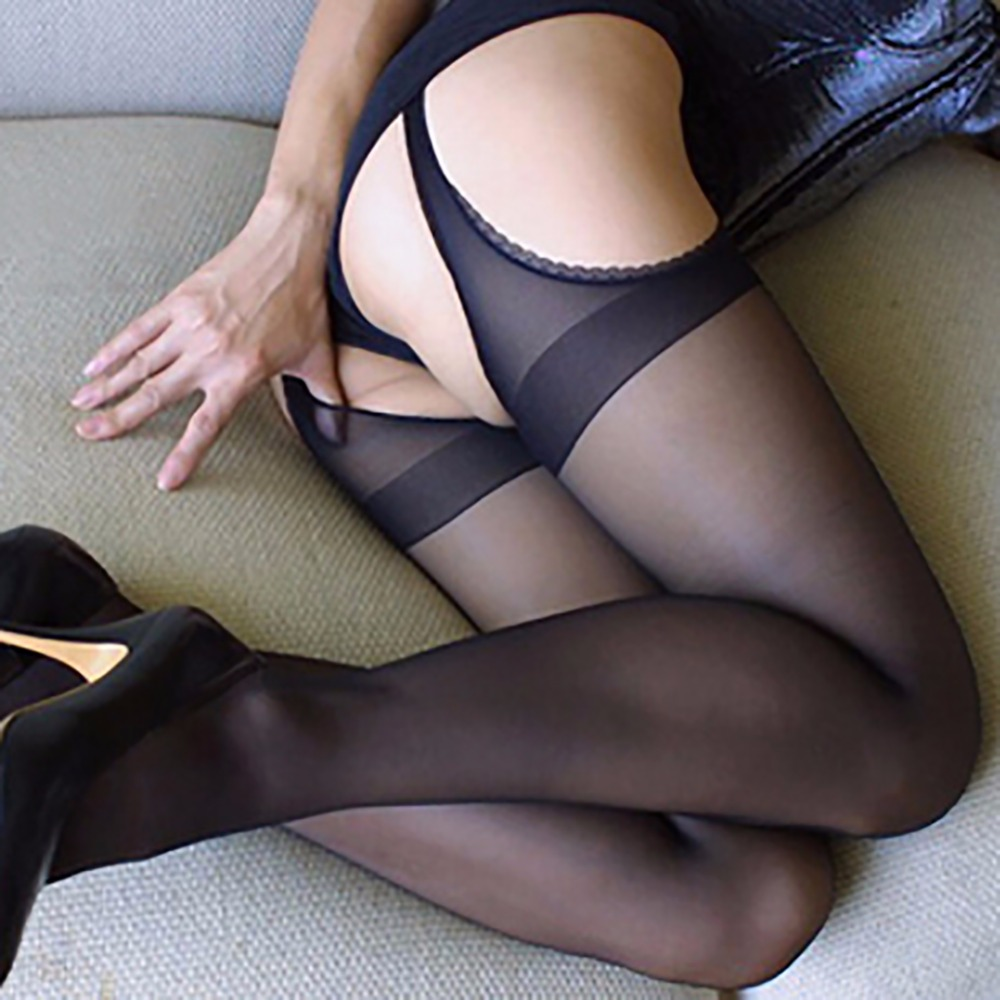 IShine Sexy Pantyhose For Women Four Sides Open Crotch Crotchless Tight Stockings Women Female Black Stocking Erotic Lingerie
