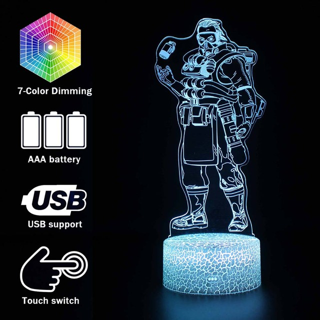 10 styles Apex Legends Lamp Bangalore/Gibraltar/Mirage Action Figure Night Light Luminous toys For Apex Legends Gamers Xmas gift