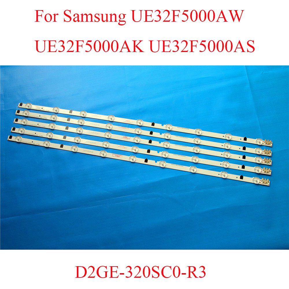 For Samsung UE32F5000AW UE32F5000AK UE32F5000AS TV LED Bars Replacement D2GE-320SC0-R3 25299A 25300A LED Screen Backlight Strip