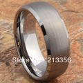 FREE SHIPPING!USA WHOLESALES CHEAP PRICE BRAZIL RUSSIA CANADA UK HOT SELLING 8MM DOMED SATIN SILVER MENS TUNGSTEN WEDDING RING