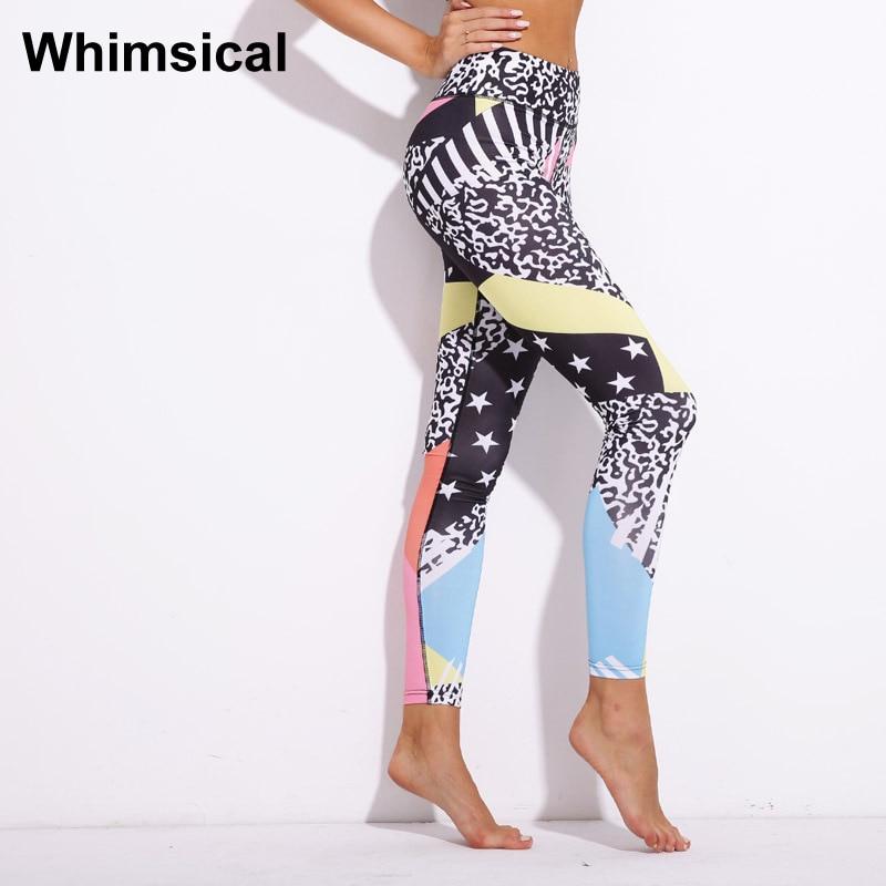 cf034659fb23da Pentagram Colorful Fitness leggings Women Workout gym Print Yoga Pants  stripe Quick-dry sports Yoga