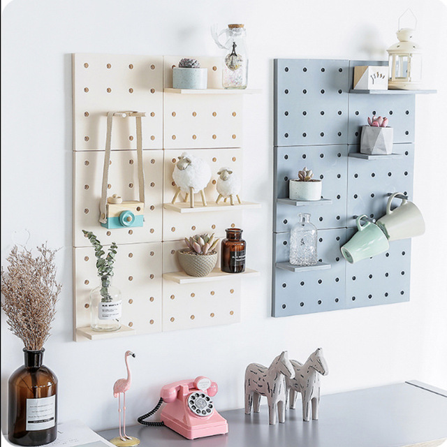 Plastic Storage Rack Decor Living Room Kitchen Wall Hanging Boards Home Shelf Bathroom Hanger