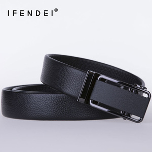 Image 4 - Ifendei 隠しポケットマネーベルト分泌 100% 牛革ベルト男性の高級ファッション自動バックルジッパー ceinture