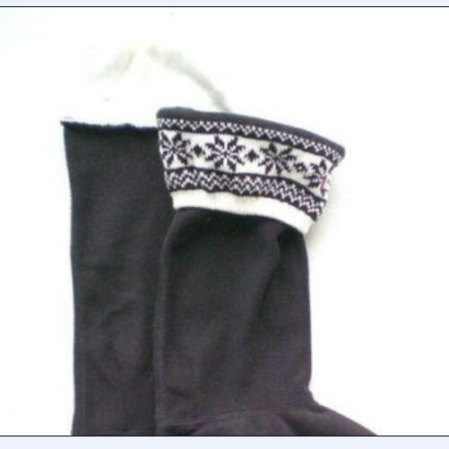 100% high quality detailed pictures new images of 4 color Snowflake pattern Hunter Long Socks Original Tall ...
