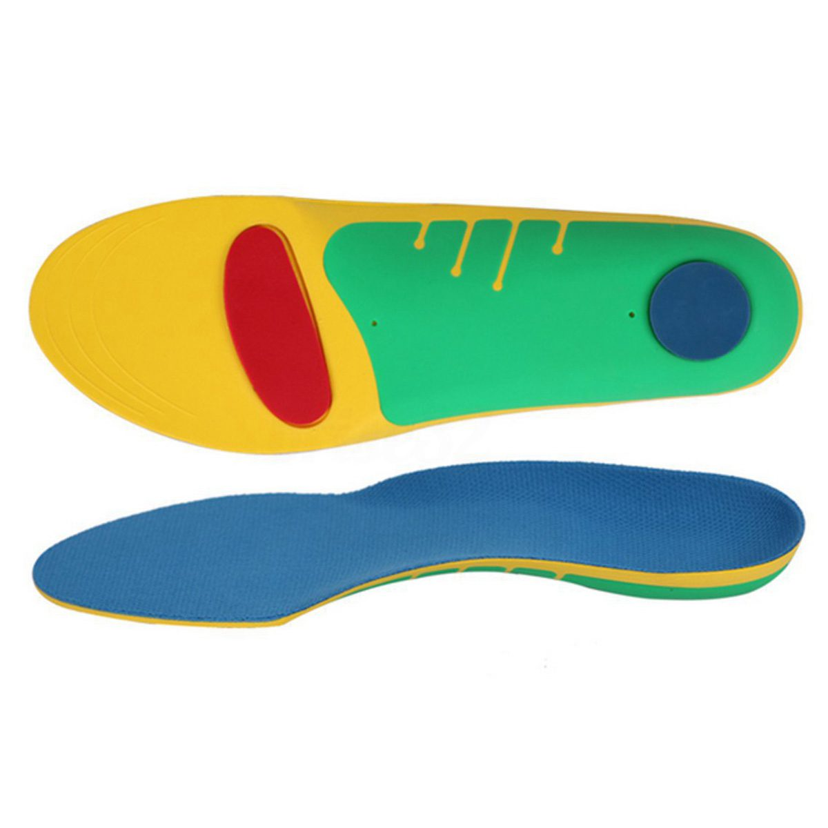 Pair Orthotic Shoes Insoles Insert High Arch Support Pad Accessory Women Men, L