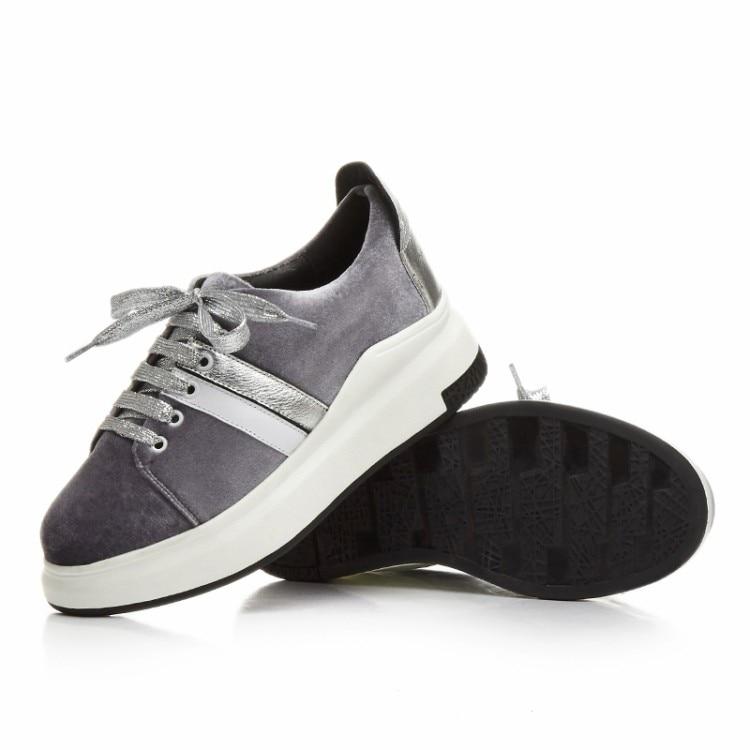 Mujeres {zorssar} Las Casuales De Nueva Moda gris Negro Mujer Terciopelo Zapatos 2017 Mocasines Pisos Planos Marca Ocio zrq7wzvA