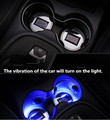 LED ambient light car Glow Water cup mat Solar coasters USB charging led car Water cup groove 6.5CM