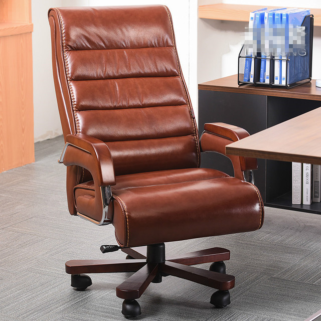 High Quality Office Chairs Ergonomic Black Ghost Chair Leather Wooden Executive Smart Electric Massage Parents Business Gift Bureaustoel