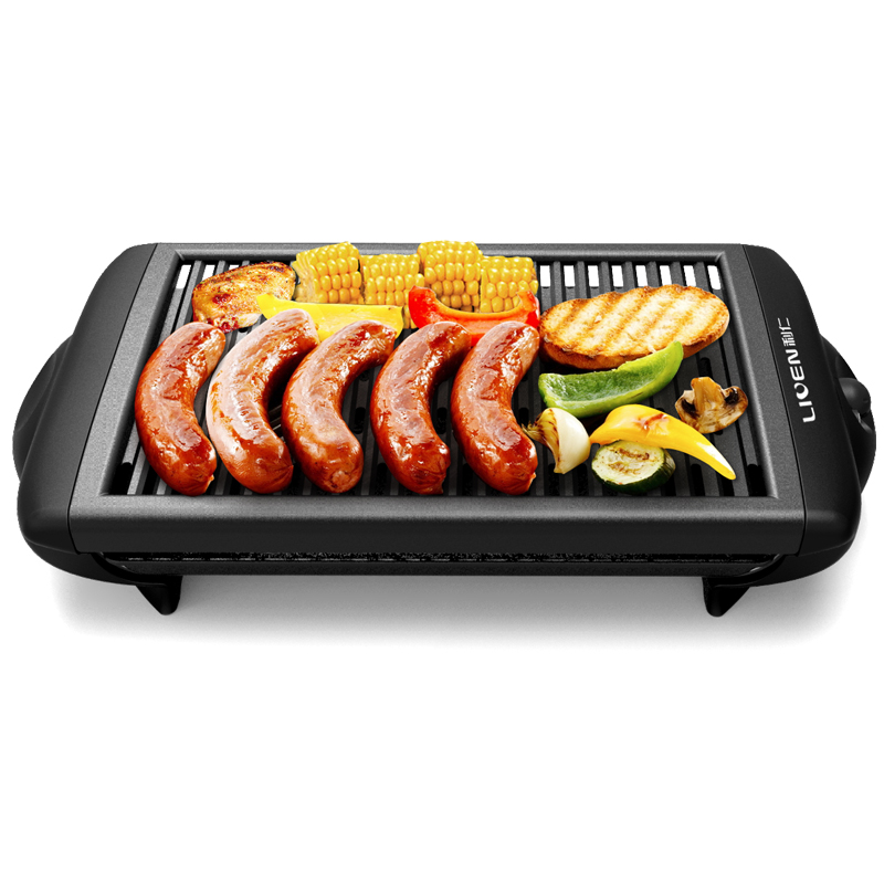 220V Electric Barbecue Griddle Non stick BBQ Grill Electric Roasting Pan Machine Smokeless Baking Oven Plate EU/AU/UK