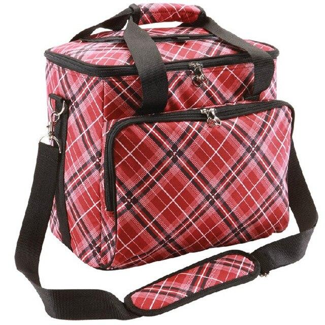 YISHIDUN suitcase Cheap Large Volume Color Thermal Cooler Bag Fashion valiz 2-layers Picnic bag w/ liner aluminum foil Food Bags
