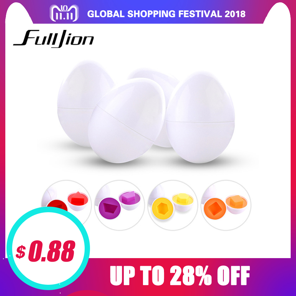 цена на Fulljion Montessori Learning Education Math Toys 6 Smart Eggs 3D Puzzle Game For Children Popular Toys Jigsaw Mixed Shape Tools